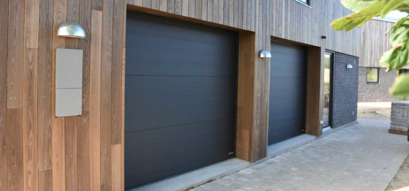 dobbelt Sort sable Garageporte
