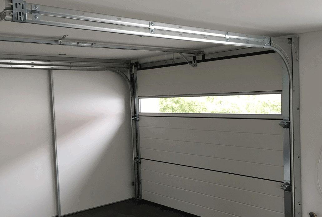 NASSAU Garageport indvendig med panorama rude