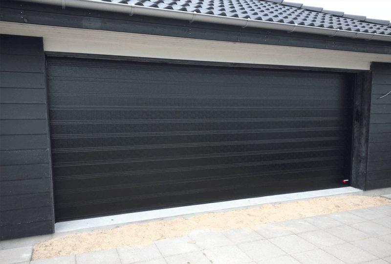 Sort bred klassisk NASSAU Garageport