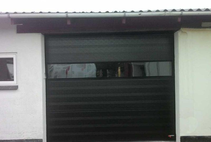 Sort NASSAU Classic Garageport m. panoramarude