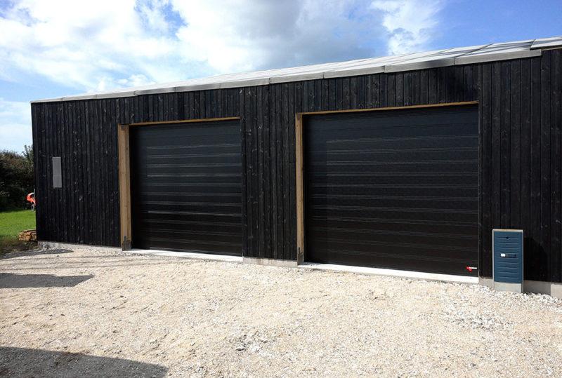 Sorte NASSAU Classic Garageporte i træ garage