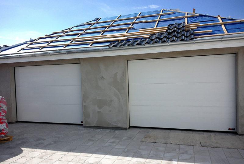 hvide sable granit garageport fra nassau