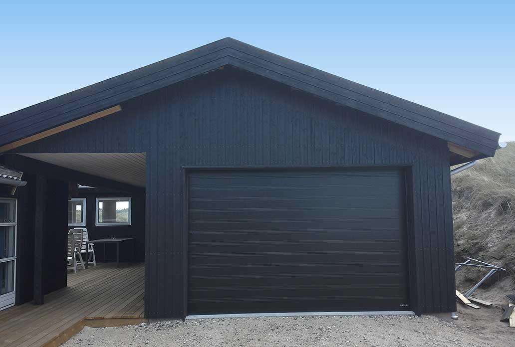 Sort NASSAU Classic Garageport til sommerhus