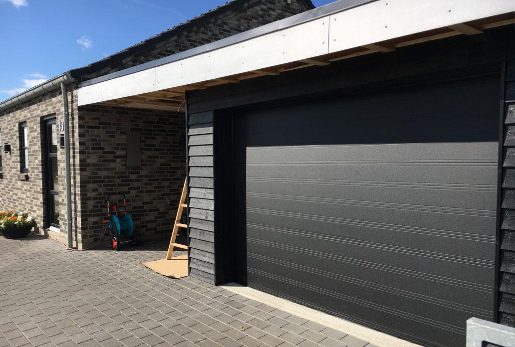 dansk produceret garageport i sable