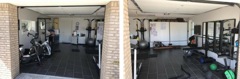 Garage som træningsrum