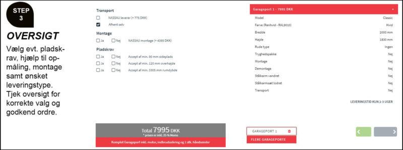 Design din garageport online oversigt bestil