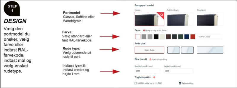 Design din garageport online oversigt design