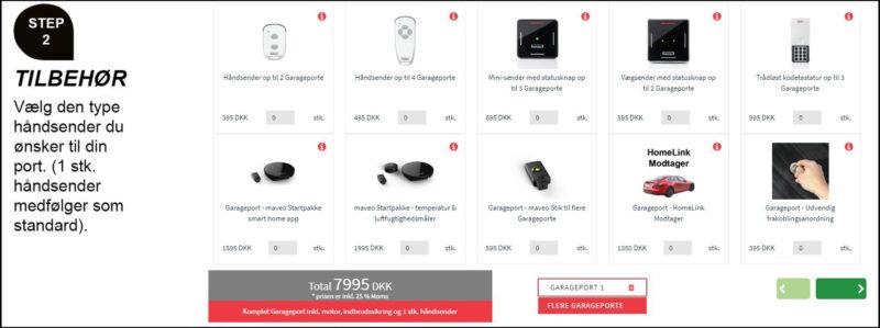 Design din garageport online oversigt tilbehør