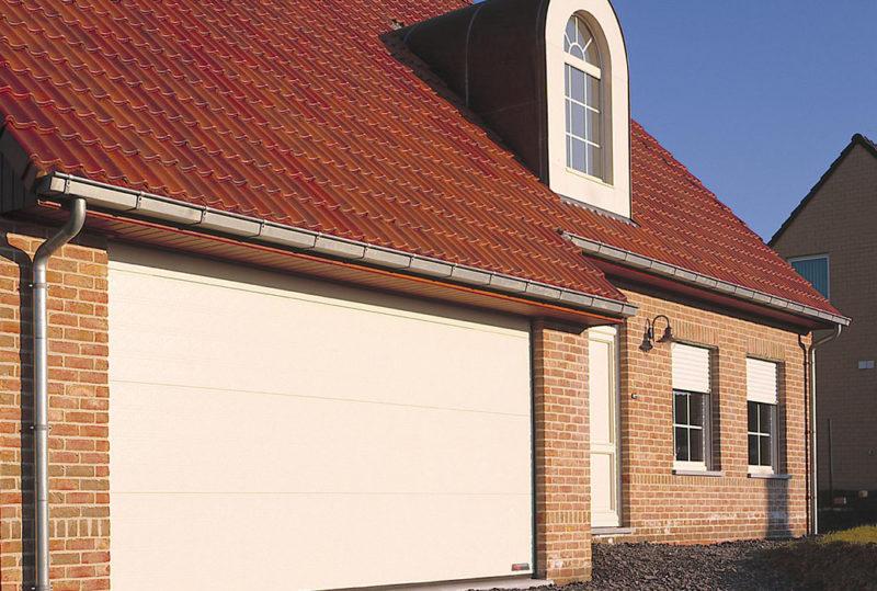 Hvid classic garageport