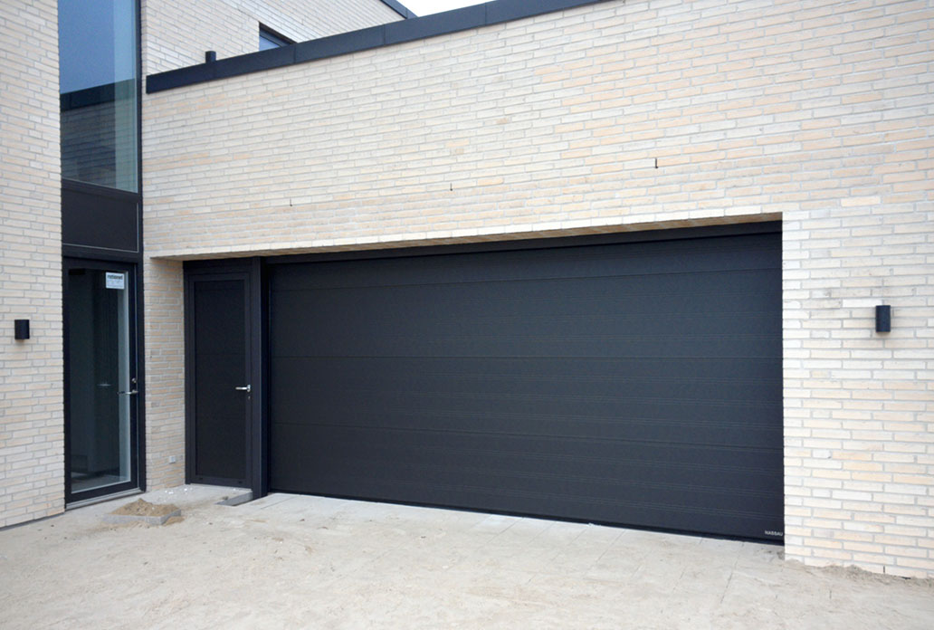 Sort softline granit med separat dør