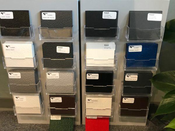 Garageport farveprøve