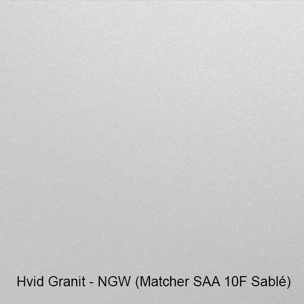 Hvid granit farveprøve
