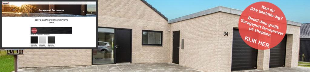 Internt farveprøve Link billede lyst hus grå garageporte