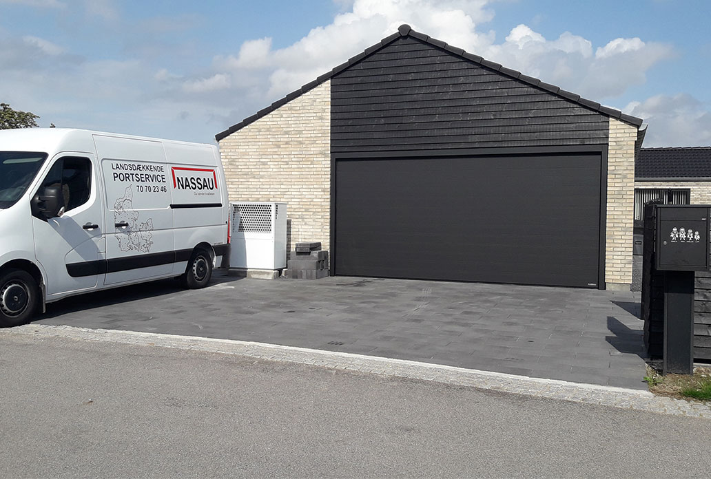 Sort Garageport NASSAU Softline Granit