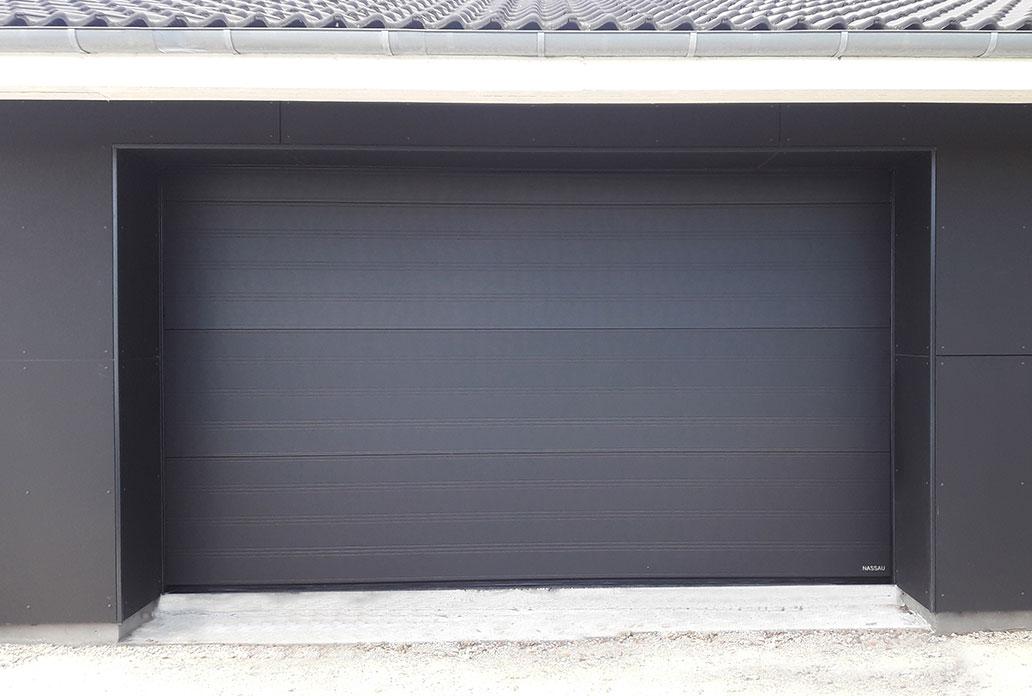 Mørk Softline Granit Garageport fra NASSAU