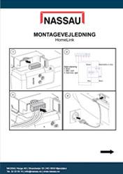 Homelink modtager til Garageporten montagevejledning