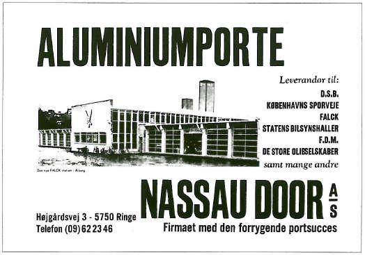 Nassau Door's første avisannonce