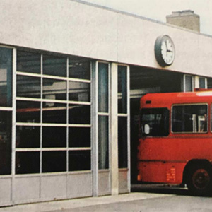 ny rutebilstation i Svendborg, 1970.