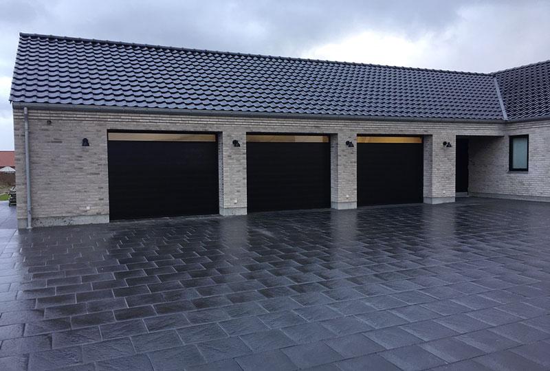3 styk Classic garageport NASSAU