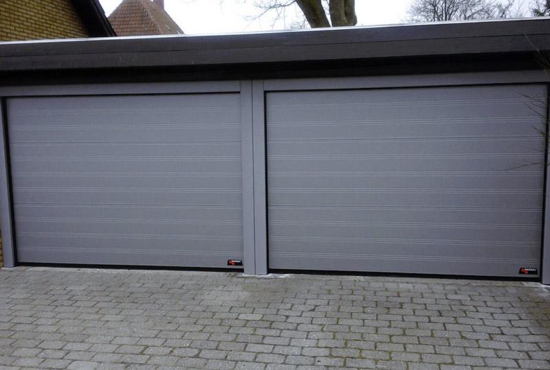 NASSAU Garageporte m. lakerede stålkarme