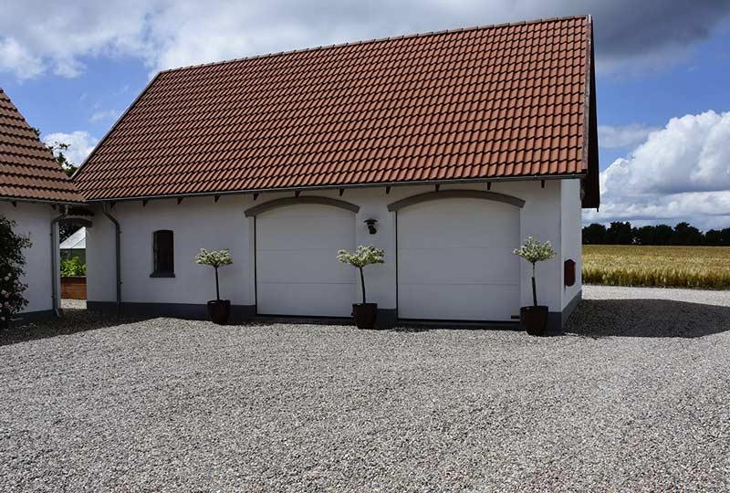 Hvide NASSAU softline granit Garageporte galleri